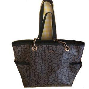 Calvin Klein monogram shoulder bag.  40% off!